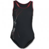 Costum de Inot Joma Lake negru-rosu pentru Dama