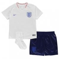Costumase bebelusi cu echipe fotbal Nike Anglia 2018 alb albastru roial