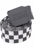 Curea textil UC Checkerboard 150cm negru-alb Urban Classics