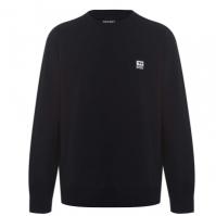 Bluze cu guler rotund Diesel Logo negru 9xx