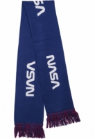 Esarfa NASA tricot alb-albastru Mister Tee rosu