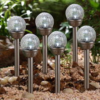 Garden Essentials Solar Glass Lights
