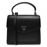 Geanta DKNY Whitney Flap Over negru auriu bgd
