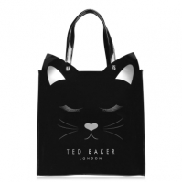 Geanta Tote Ted Baker Meowcon Icon negru