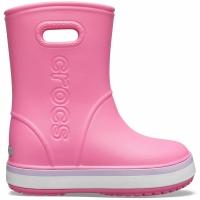 Ghete Crocs ploaie s For Crocband ploaie roz 205827 6QM pentru Copil pentru Copil