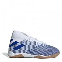 Ghete de fotbal adidas Nemeziz 19.3 Indoor alb albastru