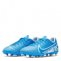 Ghete de fotbal Nike Mercurial Vapor Club FG pentru Copil albastru alb