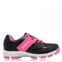 Adidasi hochei pe iarba Grays Flash pentru Dama negru roz