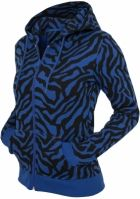 Hanorac cu fermoar imprimeu zebra pentru Dama Urban Classics
