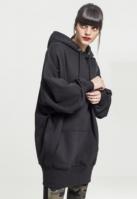 Hanorac lung oversized pentru Dama negru