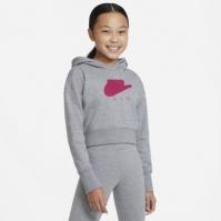 Hanorac Nike Air Big () Cropped pentru fete pentru Copil gri roz