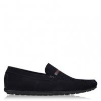 Hugo Dandy Suede Driving Shoes bleumarin