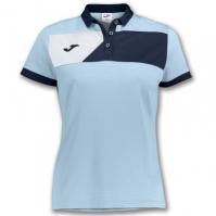 Tricouri polo Joma Crew II cu maneca scurta Skyblue-bleumarin pentru Dama