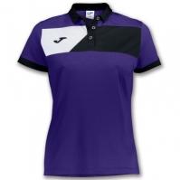 Tricouri polo Joma Crew II S/sl Purple pentru Dama