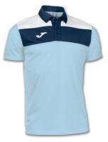 Joma Tricou Polo Crew Sky albastru cu maneca scurta deschis