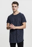 Tricou casual Long urban bleumarin-alb Urban Classics