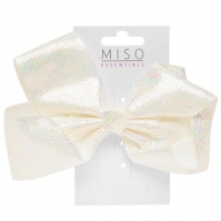 Miso Iridescent Bow pentru fetite alb
