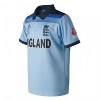 New Balance Anglia Cricket ODI 2019 Cupa Mondiala Winners Shirt enamel albastru