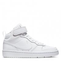 Nike Court Borough Mid 2 Big Shoe pentru Copil triple alb