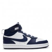 Nike Court Borough Mid 2 Little Shoe pentru Copil alb albastru