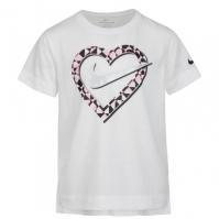 Nike Heart Tee pentru fete pentru Bebelusi alb