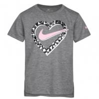 Nike Heart Tee pentru fete pentru Bebelusi gri carbon deschis