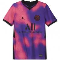 Nike Paris Saint Germain x Jordan 4th Shirt 2021 pentru Copil hyperpink negru