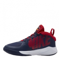 Nike Team Hustle D 9 Big baschet Shoe pentru Copil bleumarin rosu