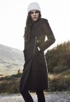 Palton asimetric lung cu fermoar pentru Dama negru Urban Classics