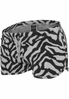 Pantaloni scurti imprimeu zebra pentru Dama Urban Classics