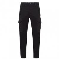 Pantaloni Cargo CP COMPANY Garment Dyed Stretch Sateen negru