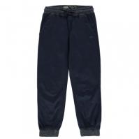 Pantaloni chino No Fear Ribbed Waistband pentru baietei verde bleumarin