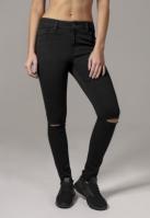 Pantaloni cu taieturi la genunchi pentru Dama negru Urban Classics