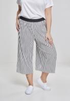 Pantaloni Culottes cu dungi Pleated pentru Dama alb-negru Urban Classics