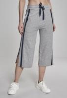 Pantaloni Culottes Taped Terry pentru Dama gri-bleumarin Urban Classics