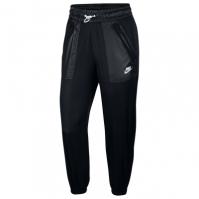 Pantaloni jogging Nike Rebel Woven pentru Dama negru alb