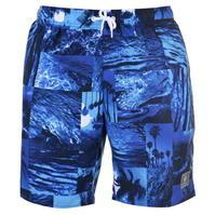 Pantaloni scurti de baie Speedo Print Leisure pentru Barbat bleumarin albastru