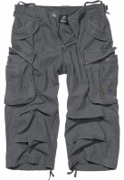 Pantaloni scurti Industry Vintage Cargo 34 gri-carbune Brandit