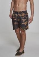 Pantaloni scurti inot Camo wood-camuflaj Urban Classics