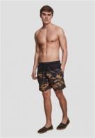 Pantaloni scurti inot negru-woodcamouflage Urban Classics