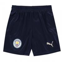 Pantaloni scurti Puma Manchester City Third 2020 2021 pentru Copil albastru