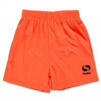 Pantaloni scurti Sondico Core fotbal pentru Copil portocaliu fosforescent negru