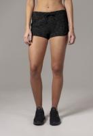 Pantaloni scurti urban pentru Dama negru-alb Urban Classics