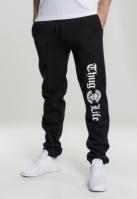 Pantaloni sport Thug Life Old English negru