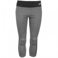 Pantaloni trei sferturi Skechers Panel pentru Dama gri carbune marl