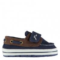 Pantofi barca Kangol pentru baieti pentru Bebelusi bleumarin maro