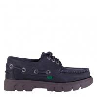 Pantofi barca Kickers Lennon piele inchis albastru
