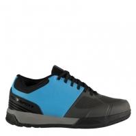 Pantofi ciclism Muddyfox Flat 100 pentru Barbat gri albastru