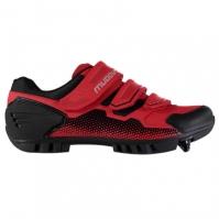 Pantofi ciclism Muddyfox MTB100 pentru Barbat rosu negru