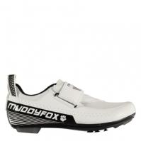 Pantofi ciclism Muddyfox TRI100 pentru Barbat alb negru
